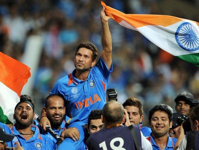 2011 worldcup winning moment