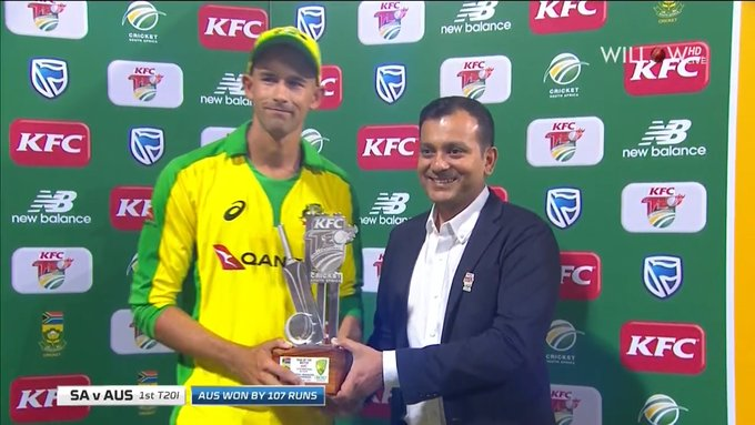 Agar received player of the match