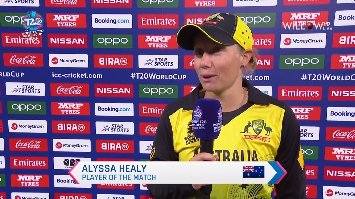 Alyssa Healy player of the match