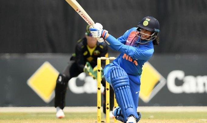 Australia womens Tri seris Mandhana's aggressive strike