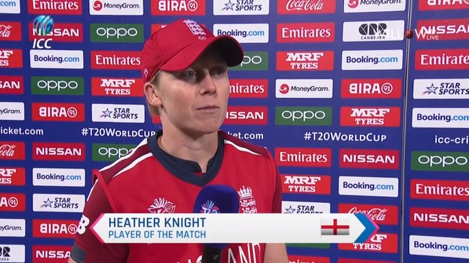 Heather Knight player of the match