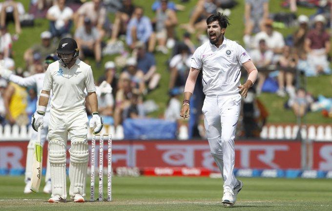 Ishant got Latham's wicket