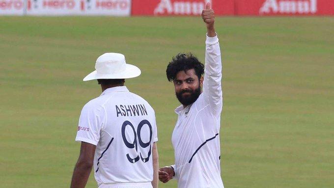 Jadeja replaced for Ashwin