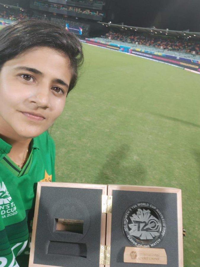 Javeria Khan won player of the match