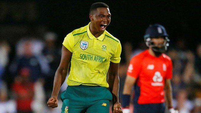 Lungi Ngidi in 1st T20I against England