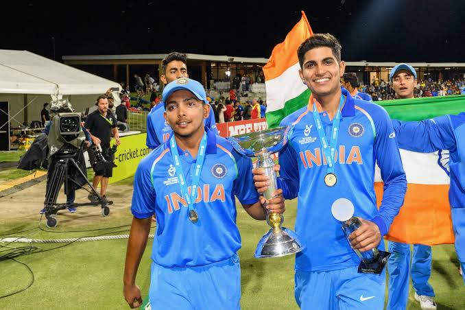 New Zealand vs India 1st ODI Prithiv shaw and Mayank Agarwal holding the U19 World cup