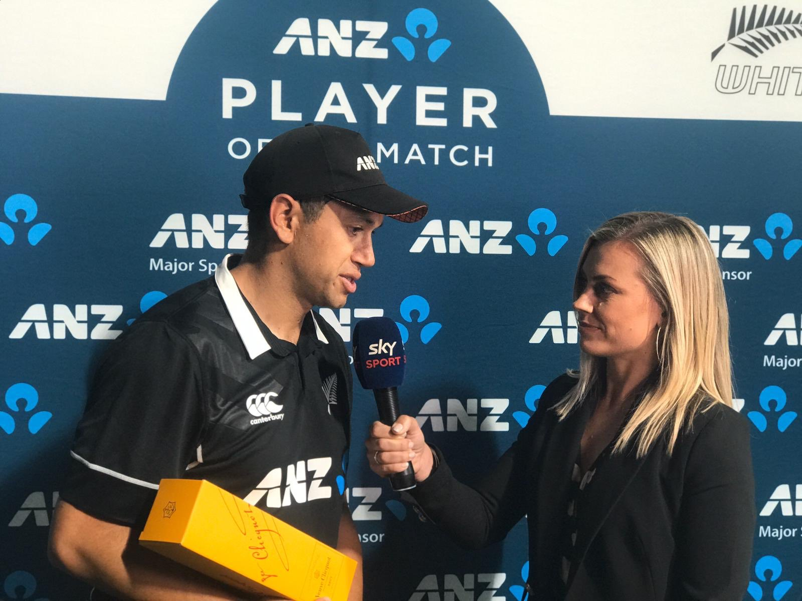 New Zealand vs India 1st ODI Ross Taylor awarded as player of match for 109*