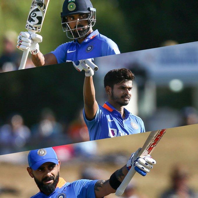 New Zealand vs India 1st ODI Shreyas Iyer 103,KL Rahul 88*,Virat Kholi 51