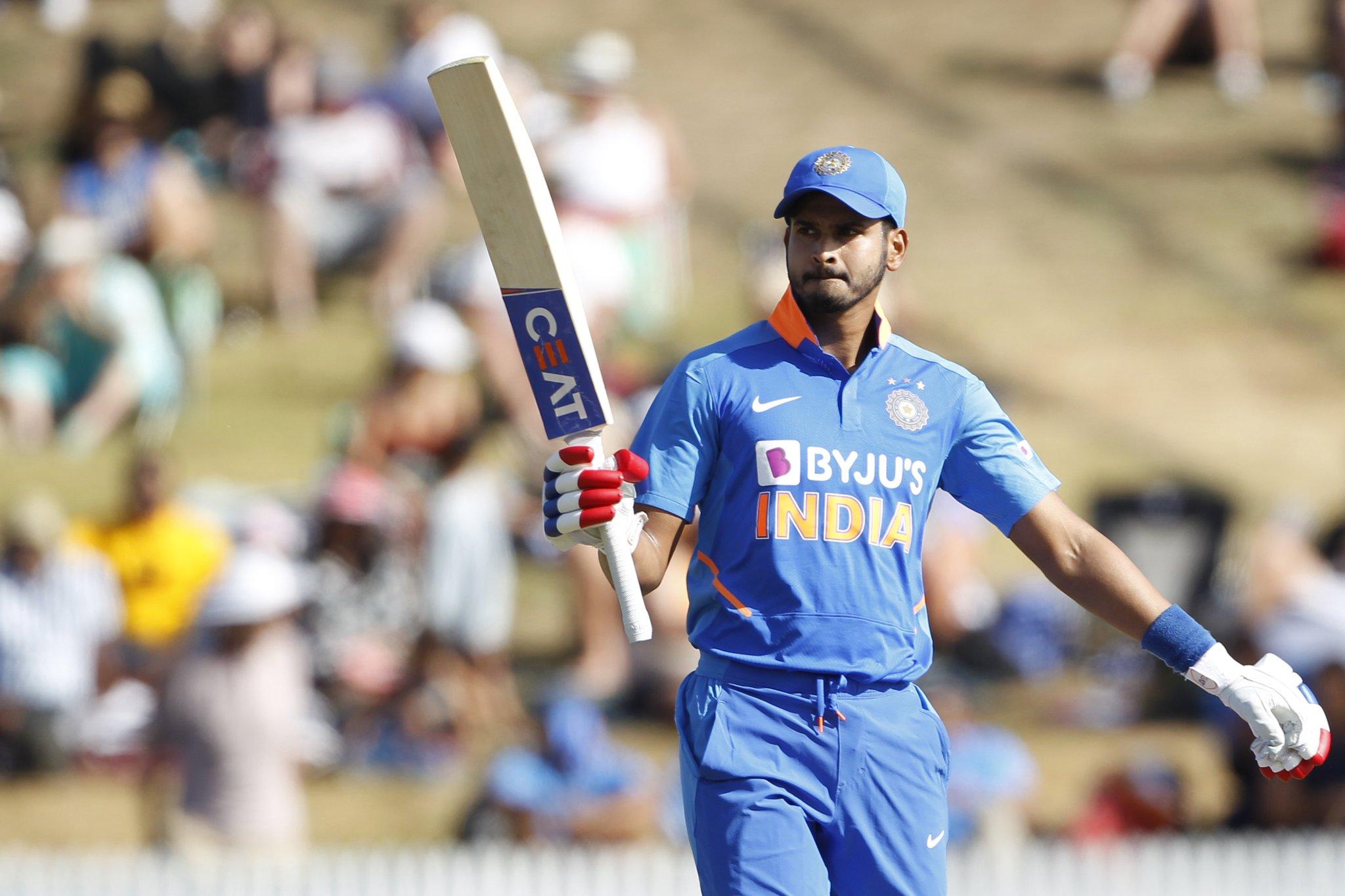 Shreyas Iyer maiden ODI Century against New Zealand at 1st ODI hamilton