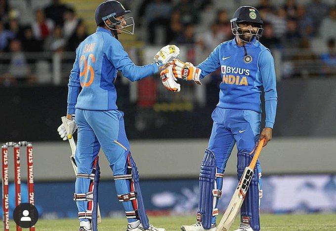 New Zealand vs India 2nd ODI jadeja and saini