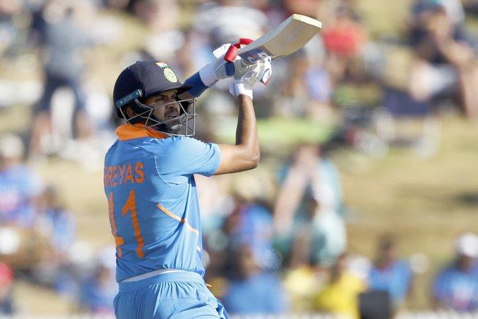 New Zealand vs India 3rd ODI Shreyas Iyer scores 62 from 63