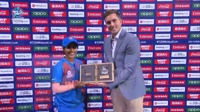 Poonam Yadav Player of the match