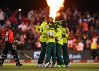 South Africa wins first T20I