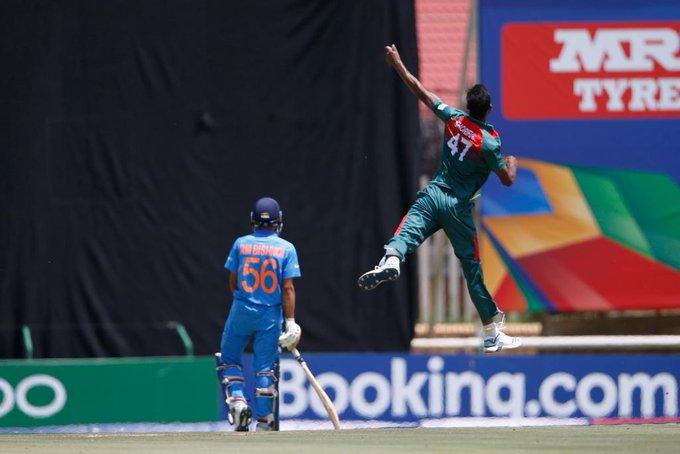 U19 worldcup 2020 India vs Bangladesh India struggle to score