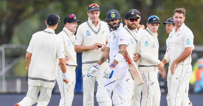 Virat Kohli dismissed for 14 runs