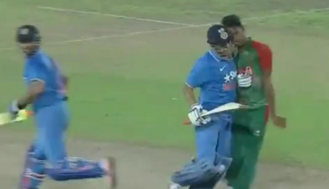 Dhoni's fight with Mustafizur Rahman
