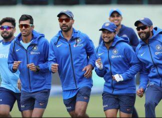 Indian team ahead of 1st ODI