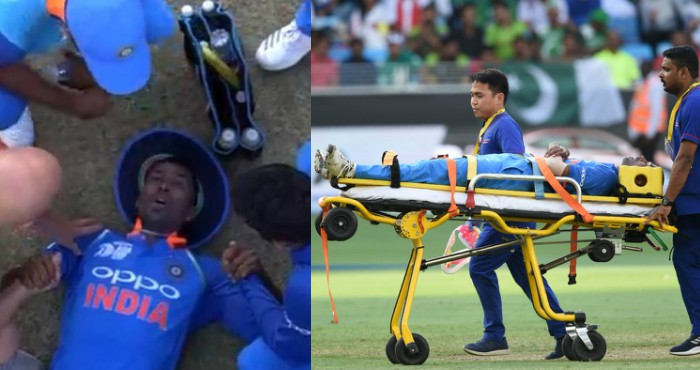 Injured Hardik Pandya
