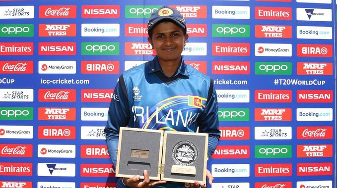 Siriwardena receives player of the match