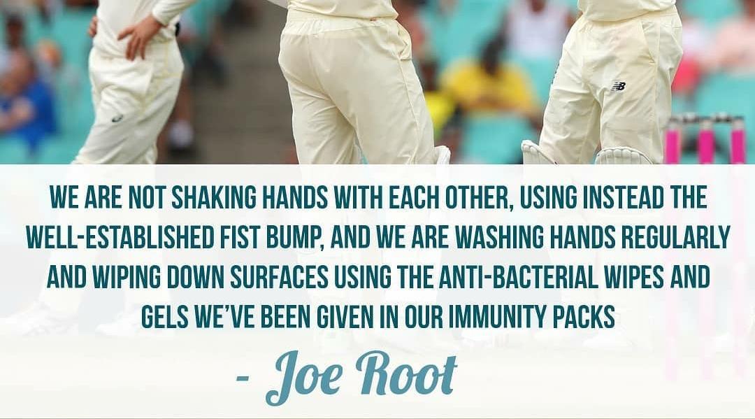 joe root avoids hand shake
