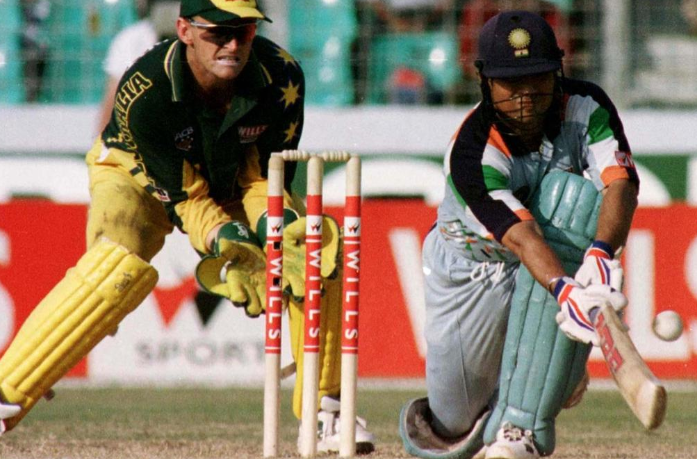 Sachin Tendulkar scored 134 v Australia, Sharjah