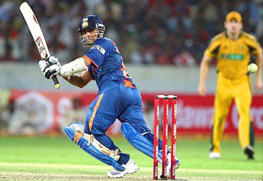 Sachin scored 175 v Australia, Hyderabad, 2009