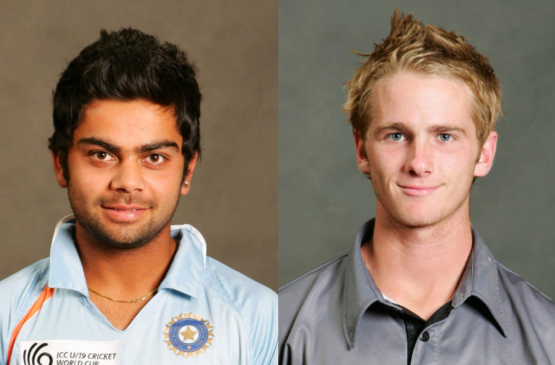 Virat Kohli and Kane Williamson in U-19 world cup