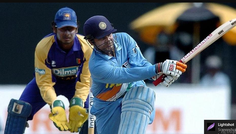 Virender Sehwag against Sri Lanka