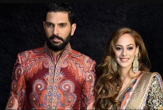Yuvraj Singh with his wife Hazel
