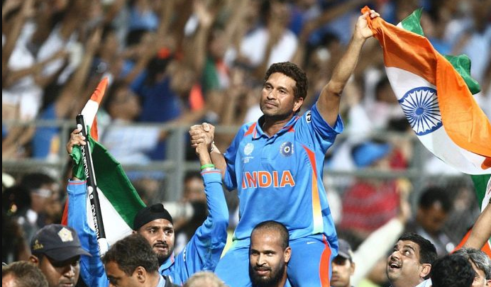 2011 world cup winning moment for India