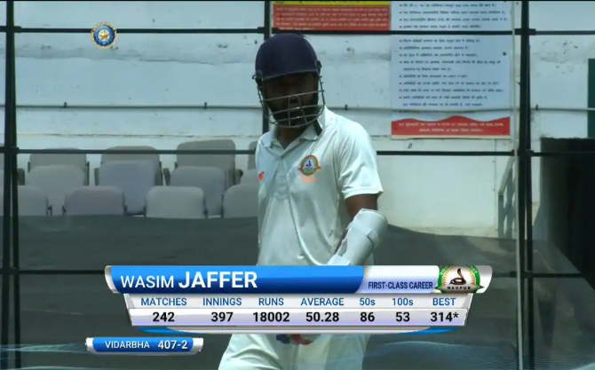 Domestic cricket legend Wasim Jaffer