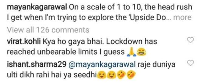 Virat Kohli and Ishant Sharma Reply to Mayank Agarwal